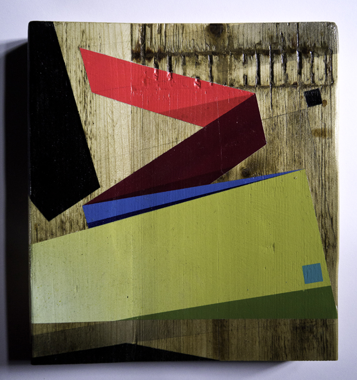 Almost perfect - 2014 Mixed media on wood  29.2cm x 31.75cm