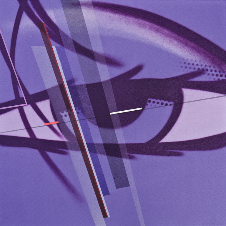 Eye 03 - 2013 Collaboration with John 'Crash' Matos Spray paint and graphite on canvas 51cm x 51cm