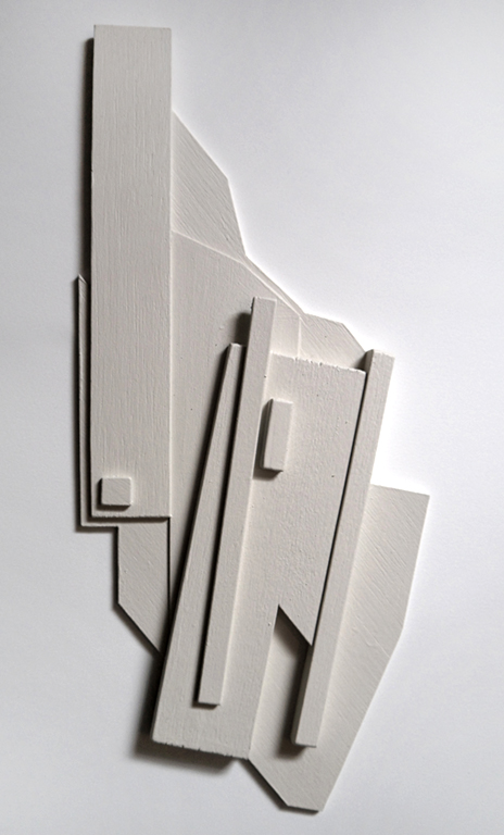 DeLorean structure I - 2012 Painted balsa wood construct