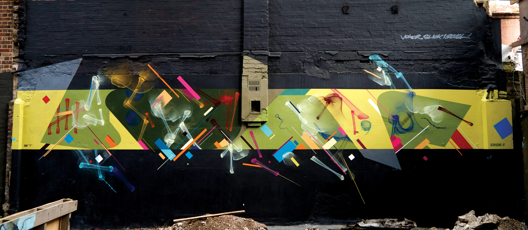 Layered mural -  2012 Collaboration with Joker and Shok-1 London