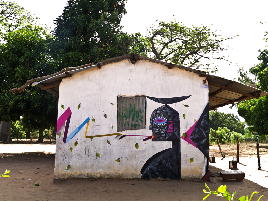 Wide Open Walls - 2014 Collaboration with Njogu Gambia