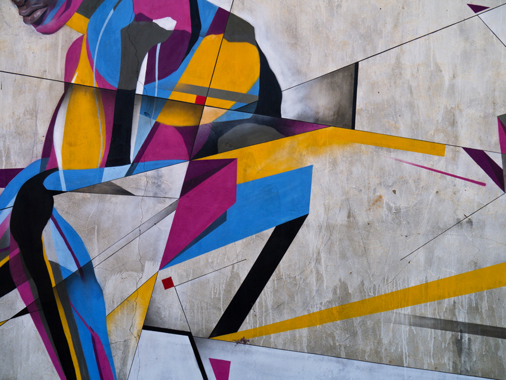 Wide Open Walls detail - 2014  Collaboration with Best Ever Gambia