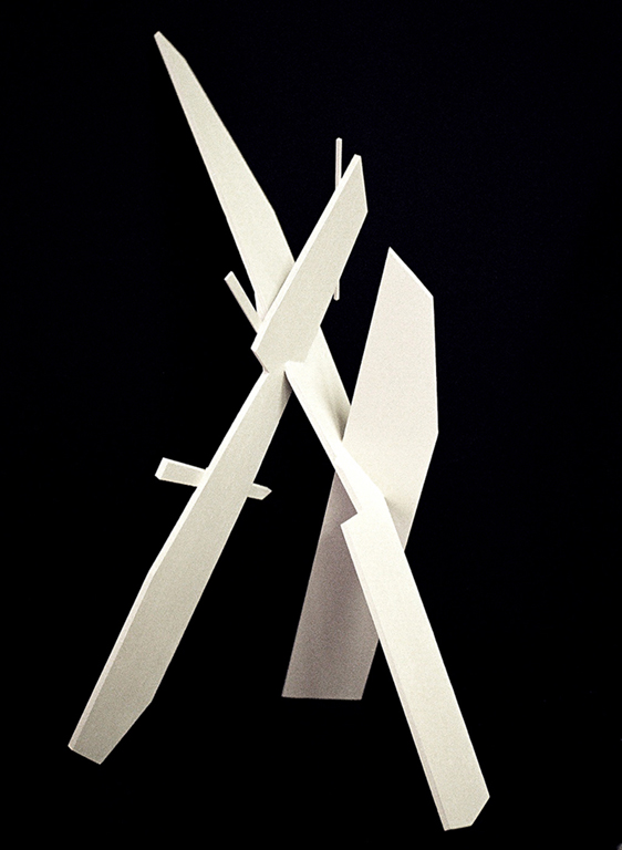 White knight - 2012 Painted balsa wood construct
